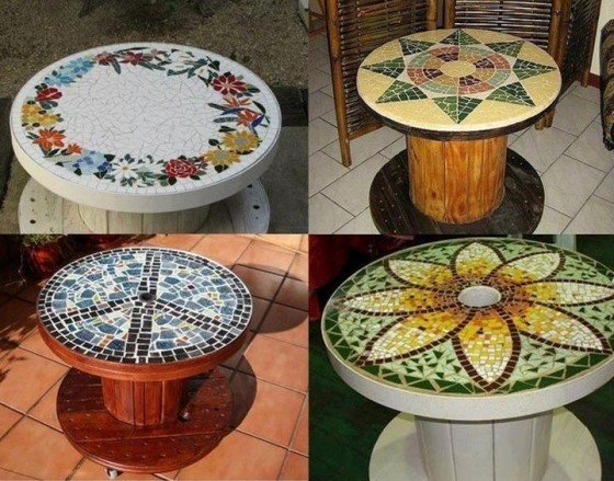 15 fab art diy wood wire spool furniture ideas and for Wire reel table