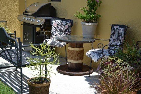 Repurposed Wire Spool Furniture Ideas - diy wire spool patio table