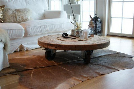 Repurposed Wire Spool Furniture Ideas-diy wire spool coffee table