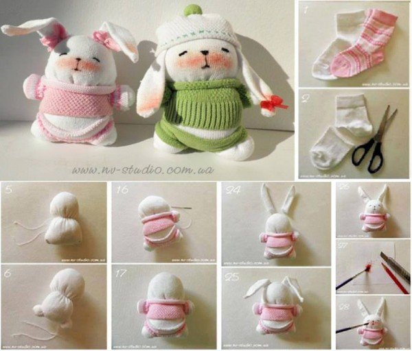 FABARTDIY - DIY adorable sock bunny