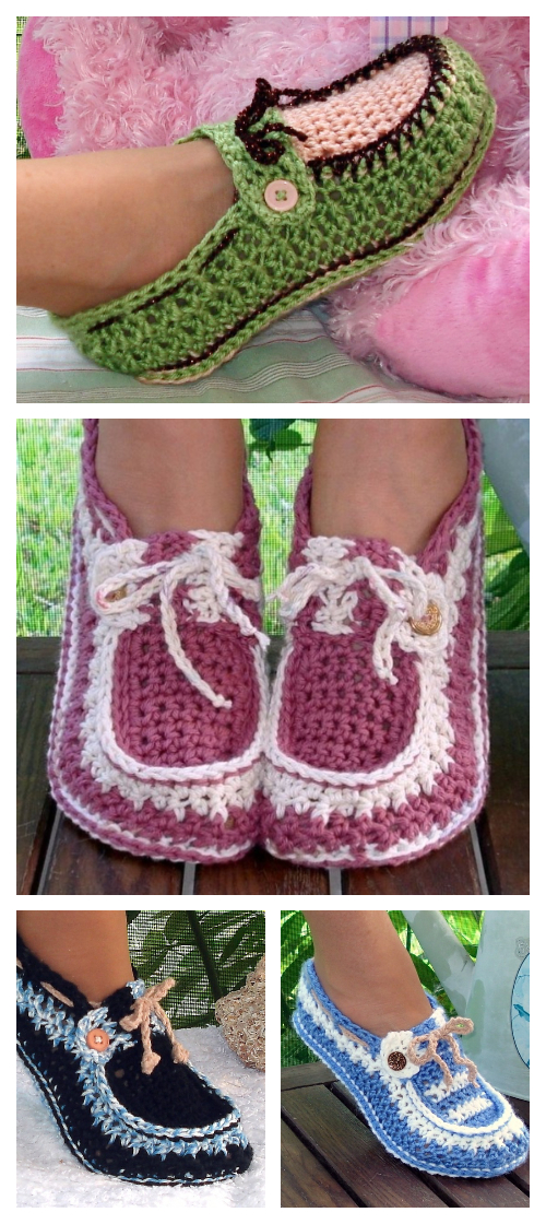 Crochet Adult Button Loafer Pattern Free & Paid