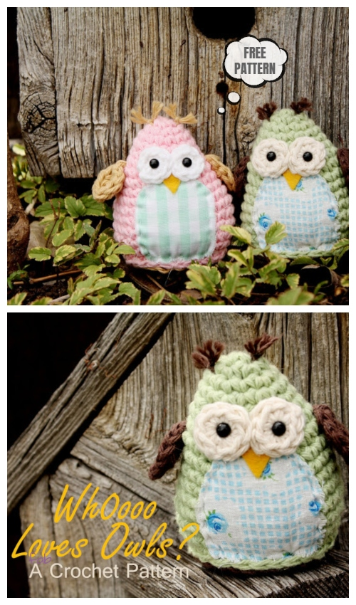 Crochet Simple Sweet Owl Amigurumi Free Patterns