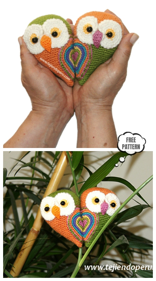 Crochet Valentine Owl Amigurumi Free Patterns