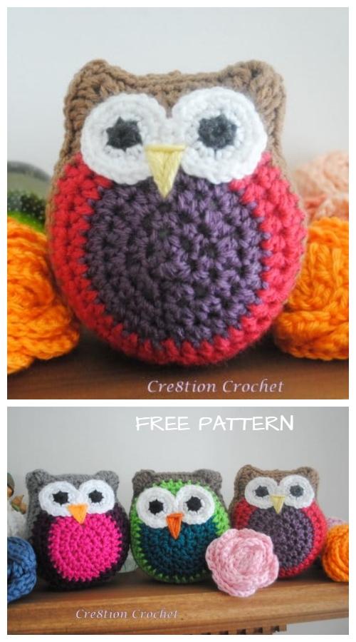 Crochet Owl Stuffy Free Crochet Patterns