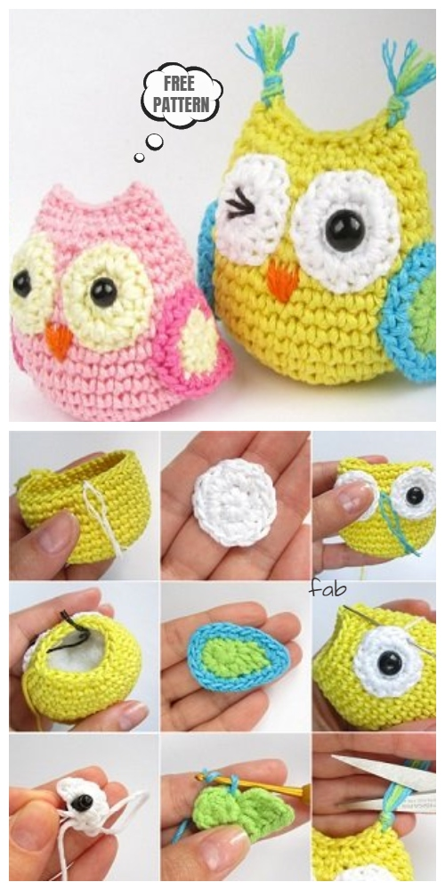 Amigurumi Crochet Owl Free Patterns Instructions | 1000x500