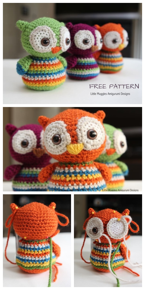 Crochet Baby Owl Amigurumi Free Patterns