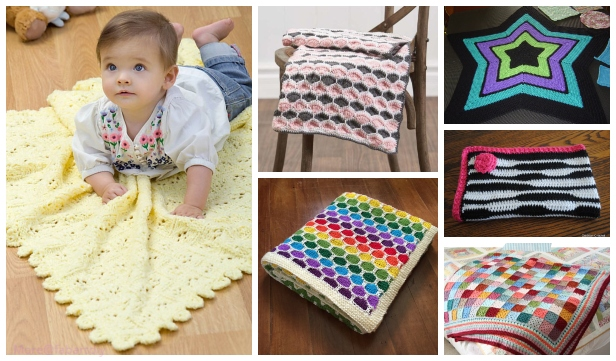 40+ DIY Knit & Crochet Baby Blanket Free Patterns