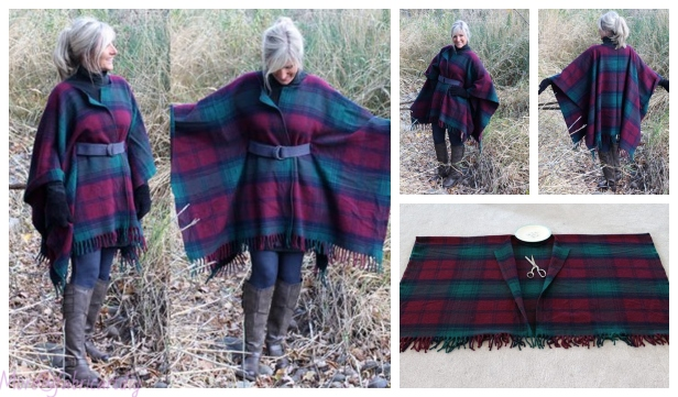 Refashion Blanket into Blanket Coat DIY Tutorial - Video