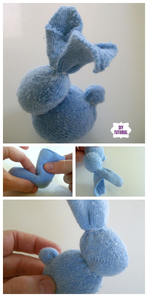 10+ Sew Sock Bunny DIY Tutorials Round Up - The Quick little Sock Bunny DIY Tutorial