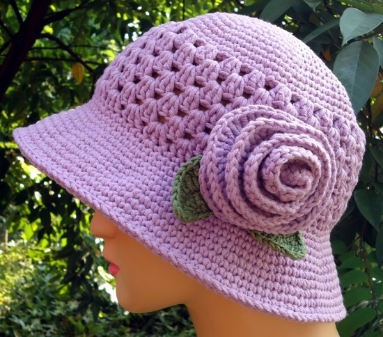 20 Diy Crochet Girls Sun Hat With Pattern