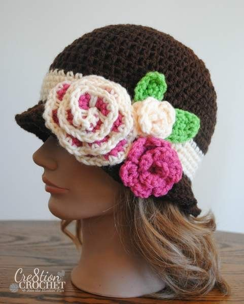Free Crochet Patterns For Vintage Hats : 20+ Fab Art DIY Crochet Girl s Sun Hat with Pattern www ...