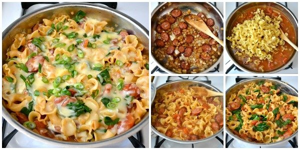 sausage and spinach pasta recipe