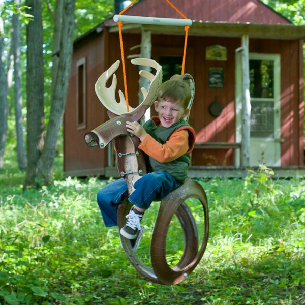 Horse Tire Swing--20+ DIY Ways to Repurpose Old Tires for Home and Garden