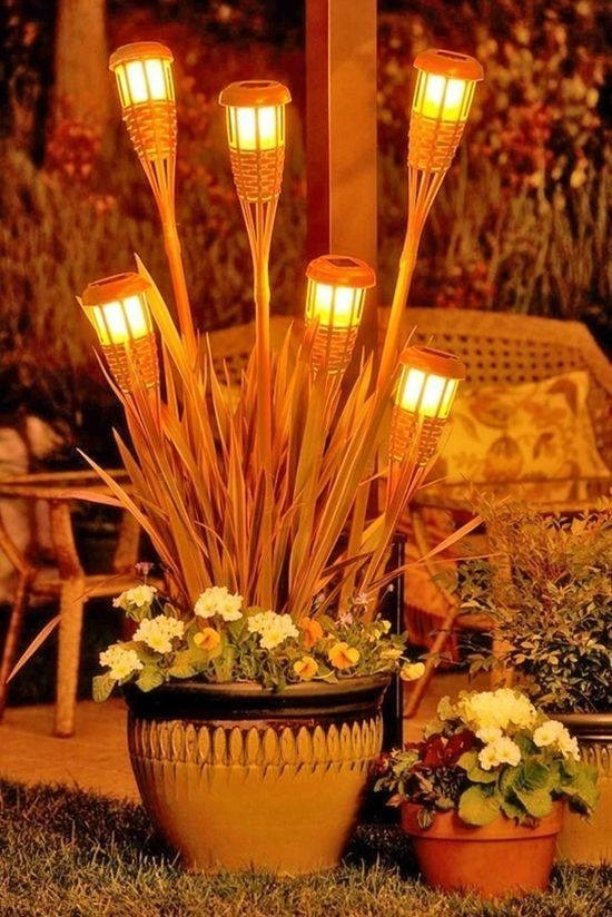 Backyard Tiki Torches : 20+ Stunning Outdoor Lighting Ideas and Projects  Fab Art DIY