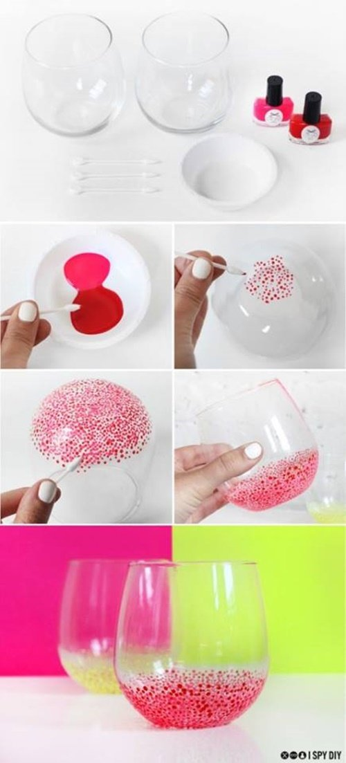 20 fab art diy ideas and projects with nail polish fab for Nail polish diy projects