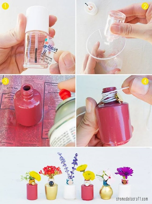 20 fab art diy ideas and projects with nail polish1 for Nail polish diy projects