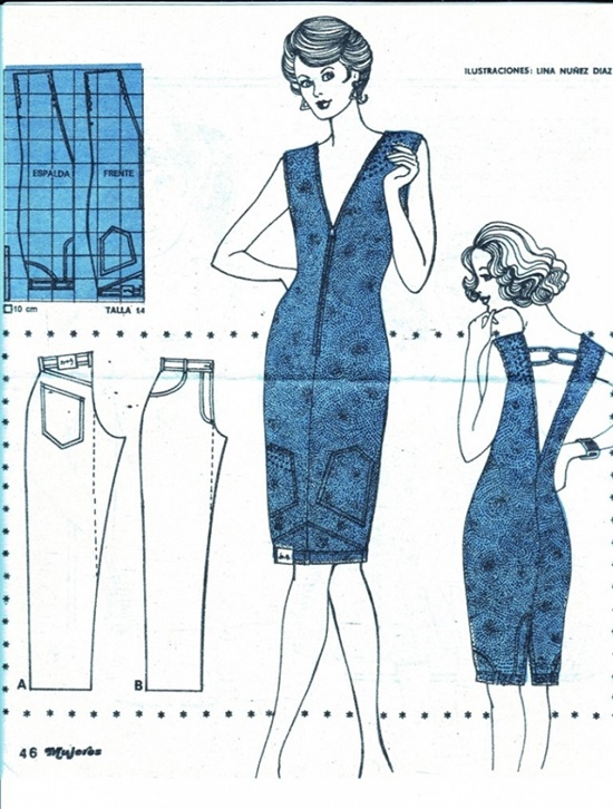 20+ FabArtDIY Ways To Rejuvenate Your Old Jeans Upside-down-upcycled-jeans-denim-dress 2