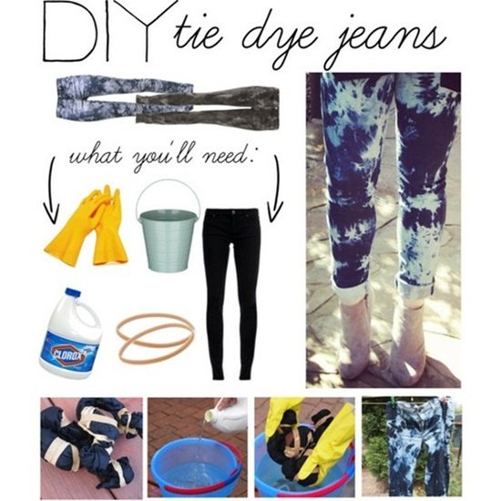 20+ Fabulous DIY Ideas and Tutorials to Refashion Your Old Jeans - Easy Tie Dye Jeans D.I.Y Tutorial
