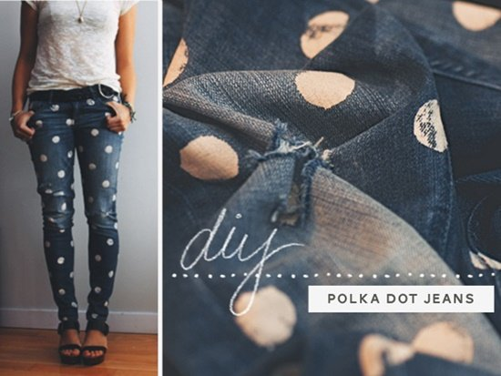 20+ Fabulous DIY Ideas and Tutorials to Refashion Your Old Jeans -  Dotty Jeans D.I.Y Tutorial