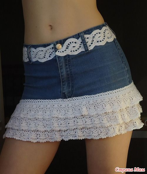 20+ FabArtDIY Ways To Rejuvenate Your Old Jeans repurpose-old-jeans-into-skirts