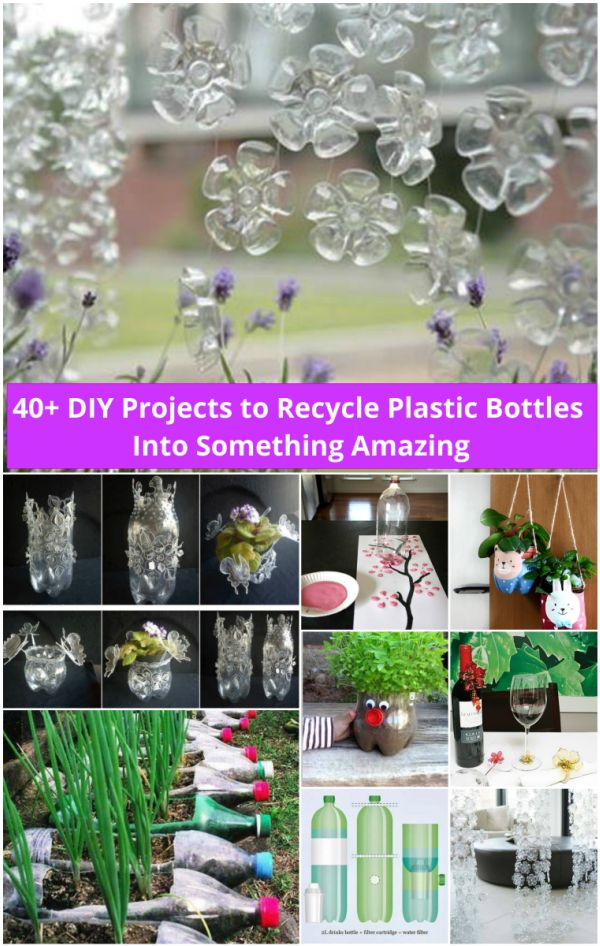 Diy ideas and projects to recycle plastic bottles 40 fab art diy ideas and projects to recycle plastic bottles into something amazing solutioingenieria Images