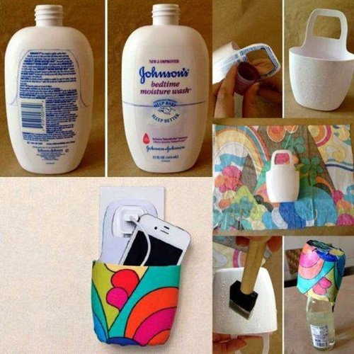 Plastic Bottle Phone Charging Holder 40 Fab Art DIY Ideas And Projects To Recycle Bottles Into Something Amazing