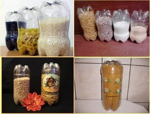 Diy ideas and projects to recycle plastic bottles plastic bottle kitchen containers 40 fab art diy ideas and projects to recycle plastic bottles into something amazing solutioingenieria Choice Image