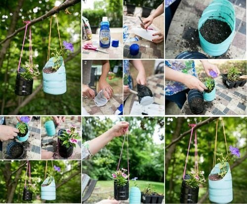 40+ Fab Art DIY Ideas and Projects to Recycle Plastic Bottles Into Something Amazing43