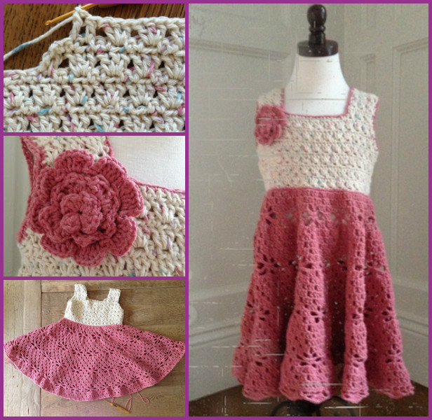 Little Girl Vintage Dress Crochet Free Pattern By AnnooCrochet Designs