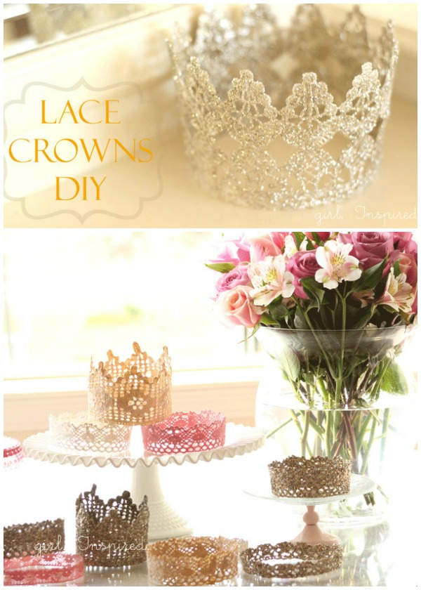 DIY Cute Princess Lace Crown Ideas and Instructions and Tutorials