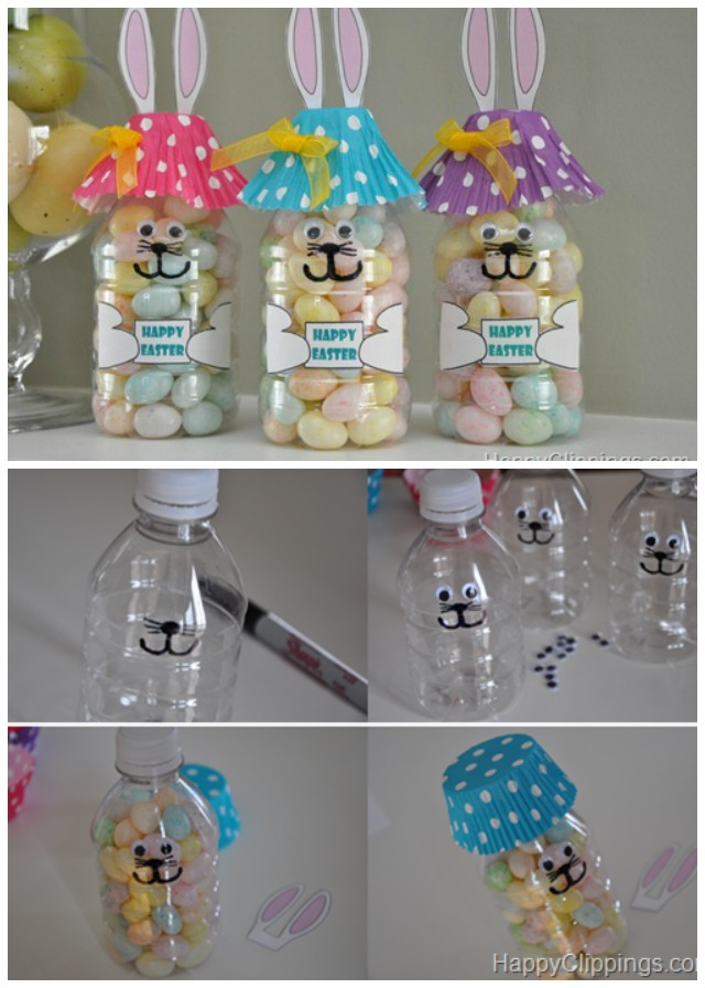 DIY Easter Bunny Bottle Treats