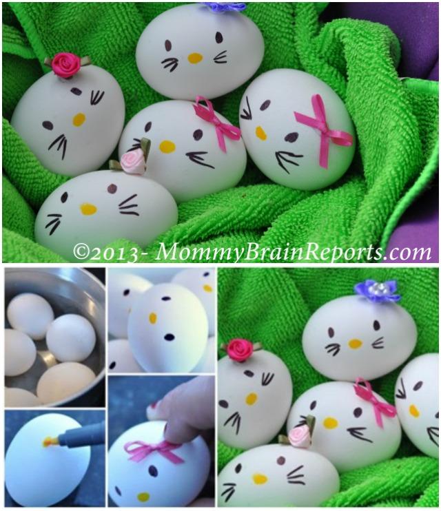 DIY Hello Kitty Easter Egg Decorating