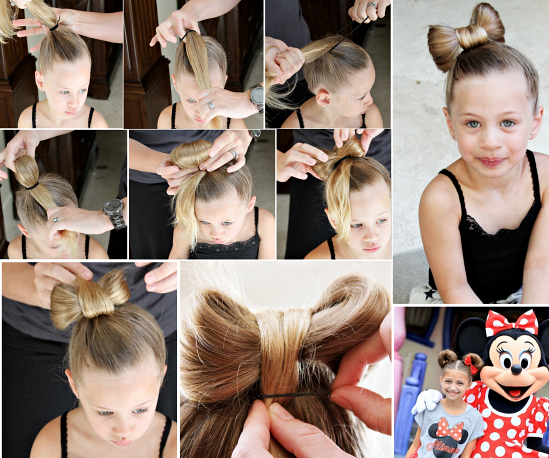 DIY Little Girls Hairstyle - Minnie Mouse Hair Bow Hairstyle tutorial