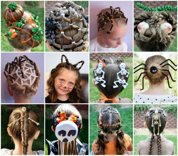 DIY Little Girls Hairstyle for halloween