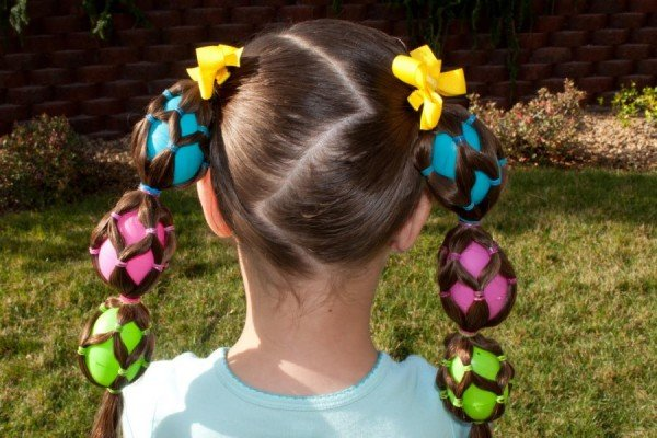 DIY Little Girls Hairstyle - Easter Crazy Hairstyle