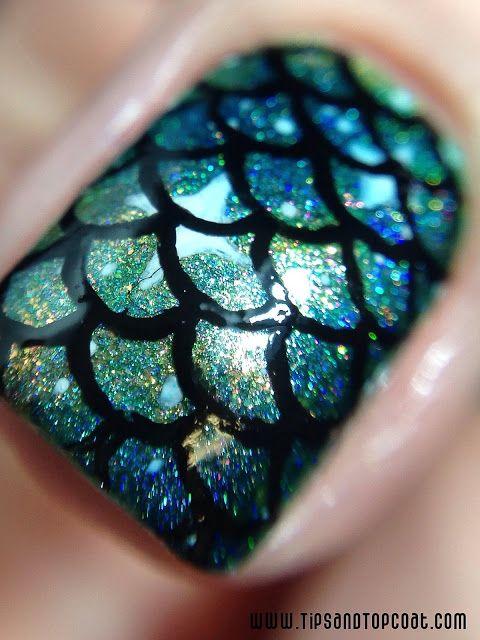 DIY Mermaid Nails Tutorials3