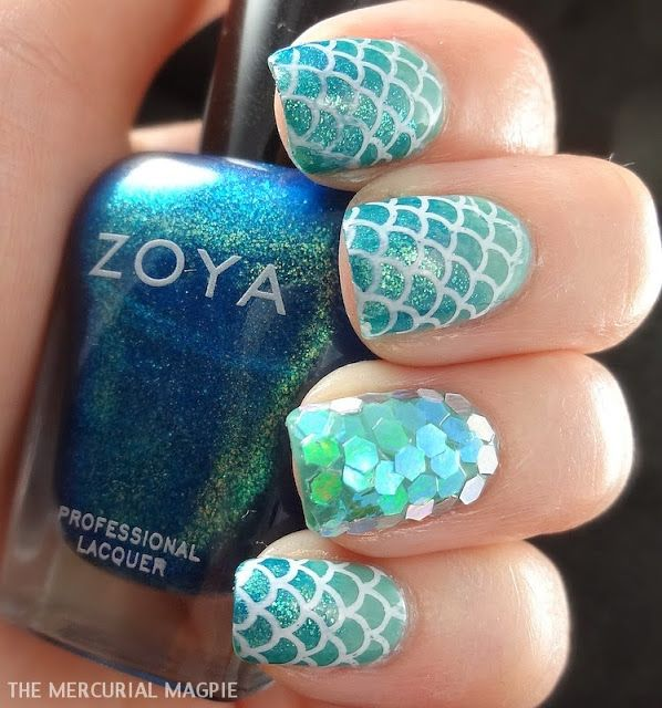 DIY Mermaid Nails Tutorials4 - DIY Stunning Mermaid Nail Art Tutorials