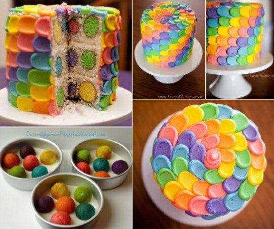 DIY Petal Polkadot Cake Tutorial