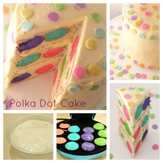 DIY Polkadot Cake Recipe 2