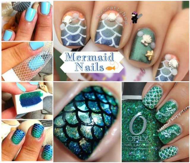 DIY Stunning Mermaid Nail Art Tutorials