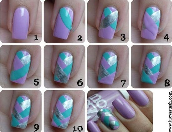 DIY stunning Mermaid Nail Art - DIY Stunning Mermaid Nail Art Tutorials