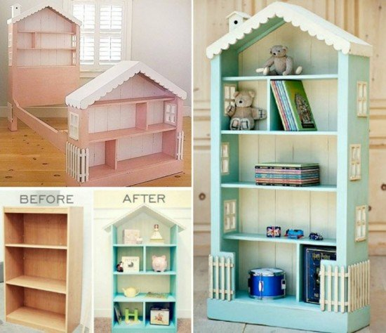 How To DIY DollHouse Bookcase