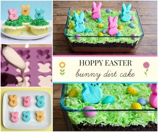 Easter Cakes Decorated With Peeps