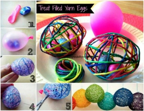 Easter Treat In Yarn Egg