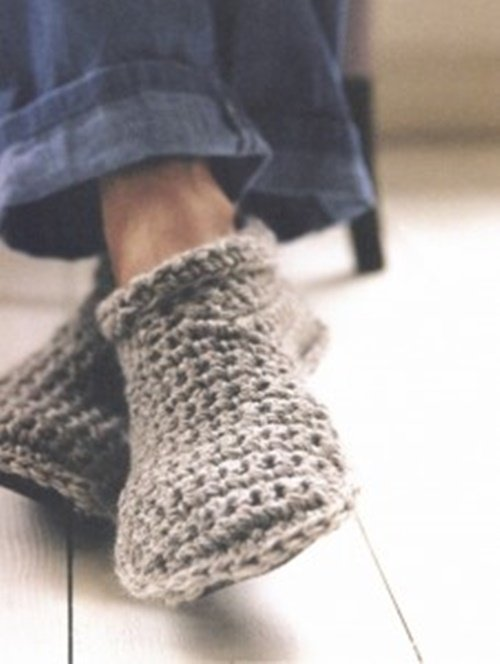 Crochet Free Patterns Slipper Boots : Fab Art DIY Crochet Adult Slippers Pattern Round Up