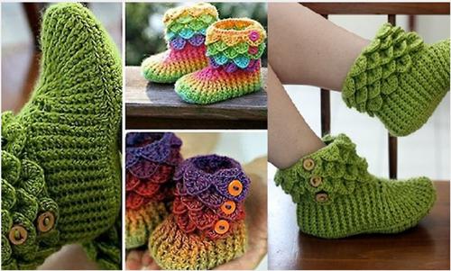 Adorable Crocodile Crochet Boots Pattern (Video)