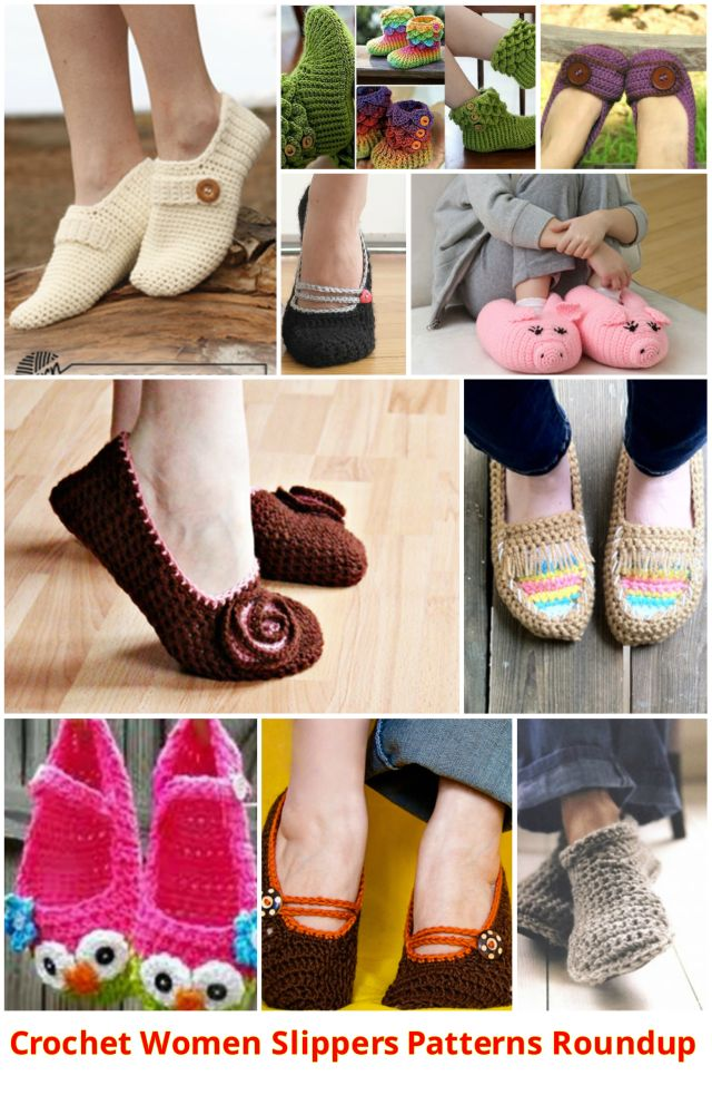Fab Art DIY Crochet Adult Slippers Patterns Roundup