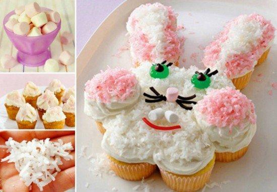 Fab Art DIY Easter Bunny Cupcake Cake