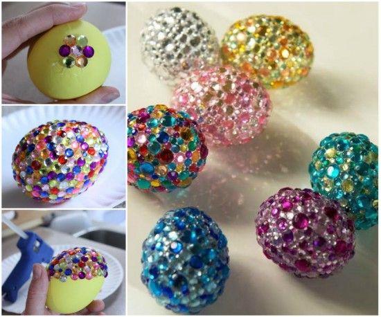Fab Art DIY Easter Egg Recipe and Decorating Ideas - DIY rhinestone egg