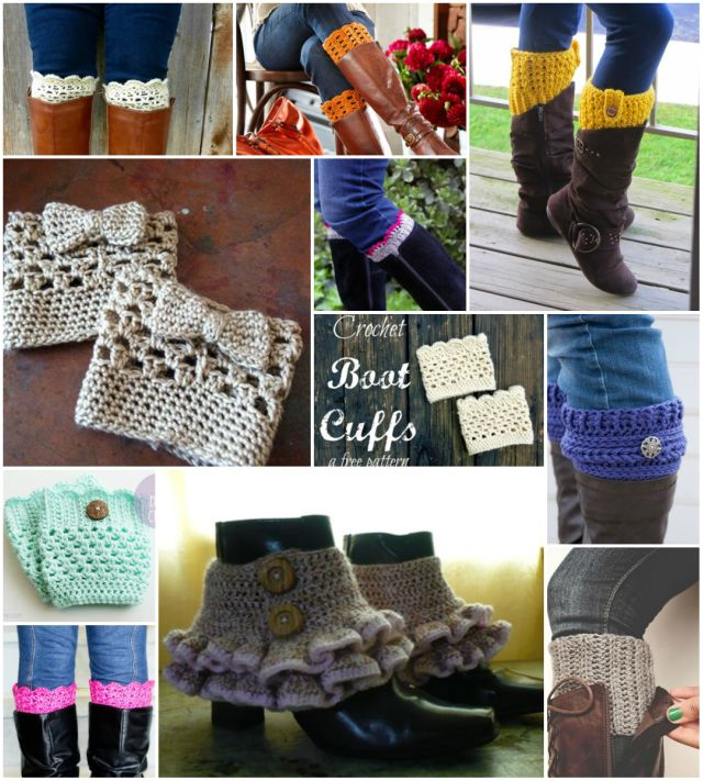 Fab Art DIY Free Crochet Boot Cuffs Patterns Round Up